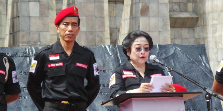 Megawati disebuah acara bersama Jokowi
