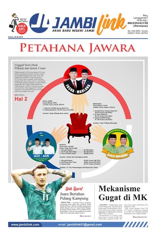 Cover Jambi Link, 28 Juni 2018