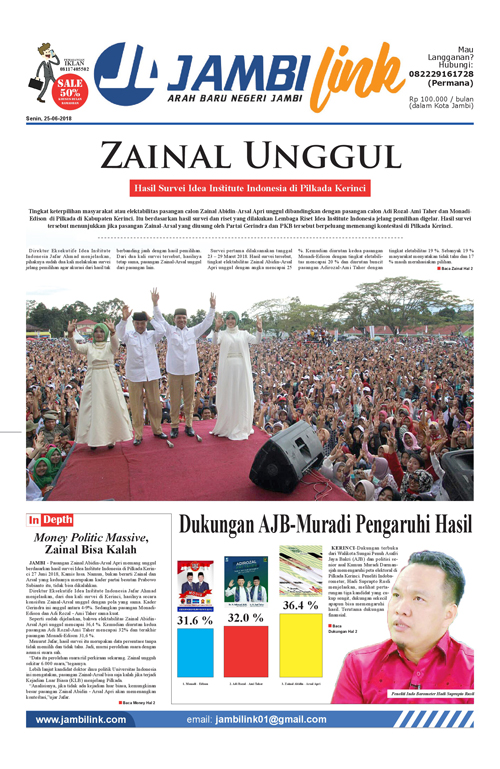 Cover Jambi Link, 25 Juni 2018