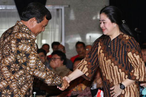 Prabowo Subianto dan Puan Maharani