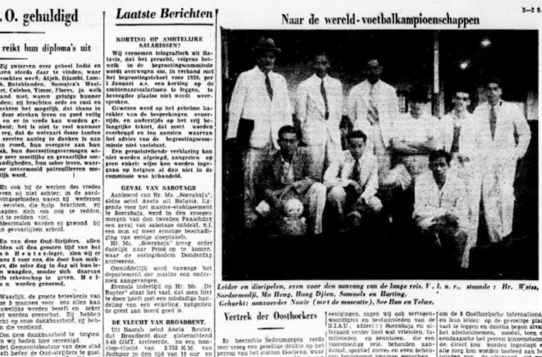 Tim Hindia Belanda sebelum berangkat ke Prancis. [Soerabaijasch Handelsblad]