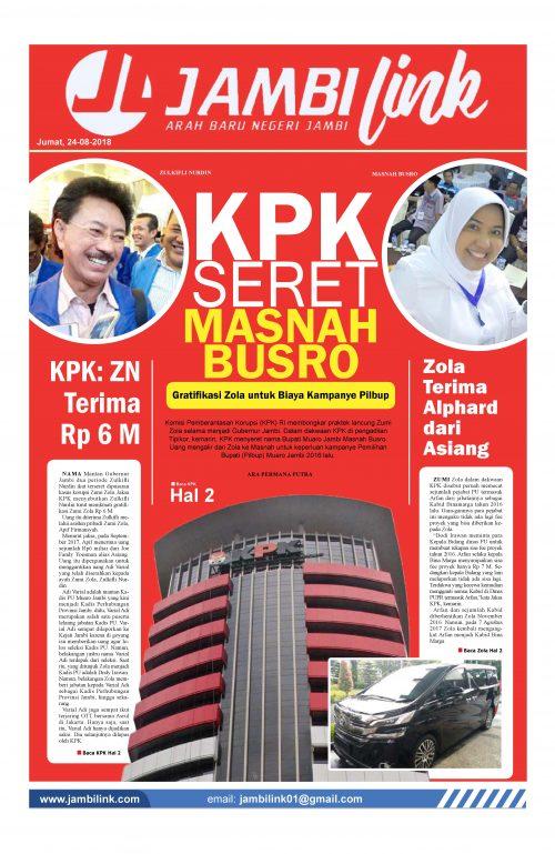 Cover Jambi Link 24 Agustus 2018