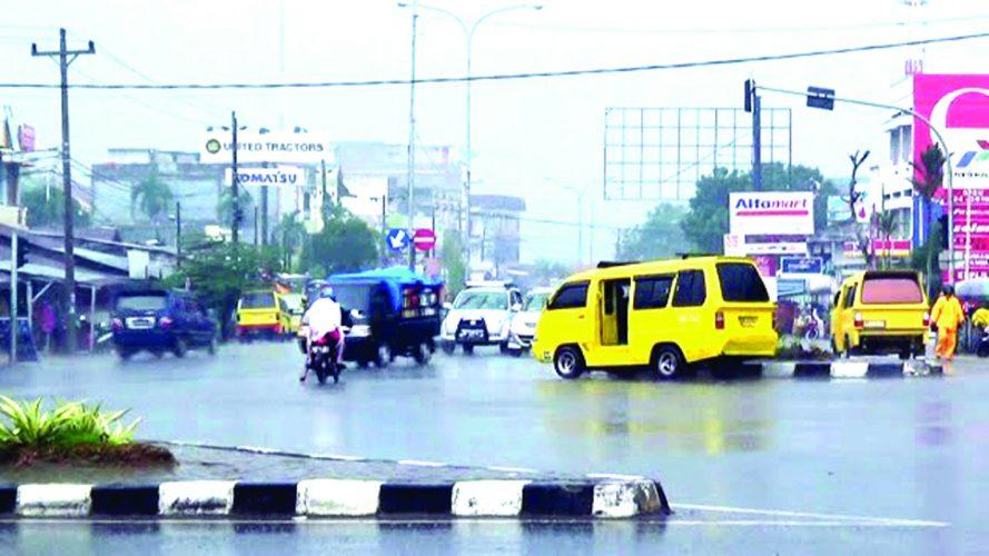 Ilustrasi hujan di Kota Jambi (Aksi Post)