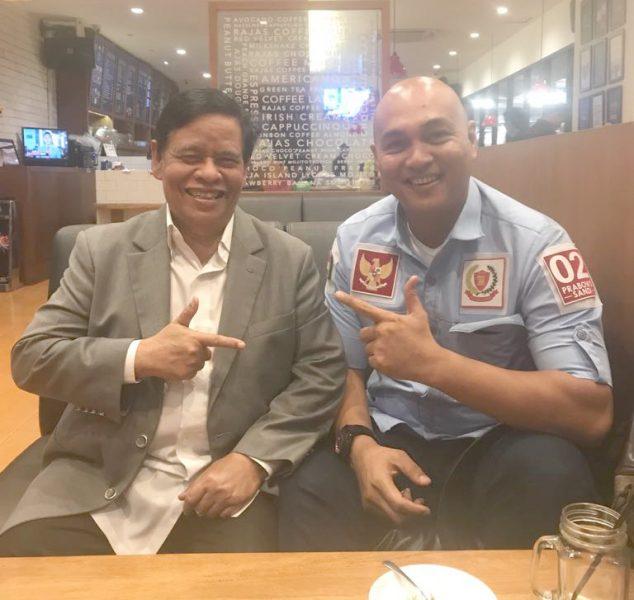Murady Darmansyah bersama asisten pribadi Prabowo Subianto