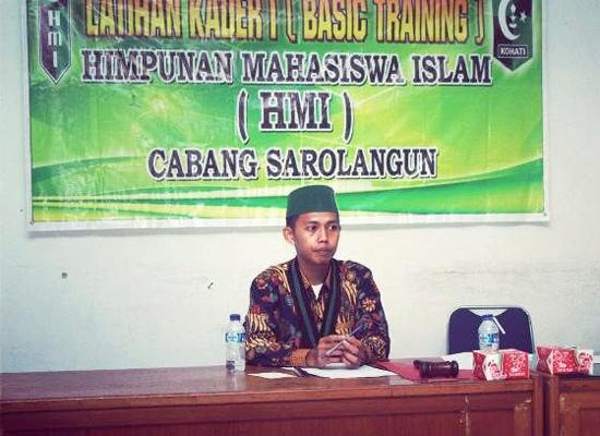 Ketua HMI Sarolangun, Ilham Irawan
