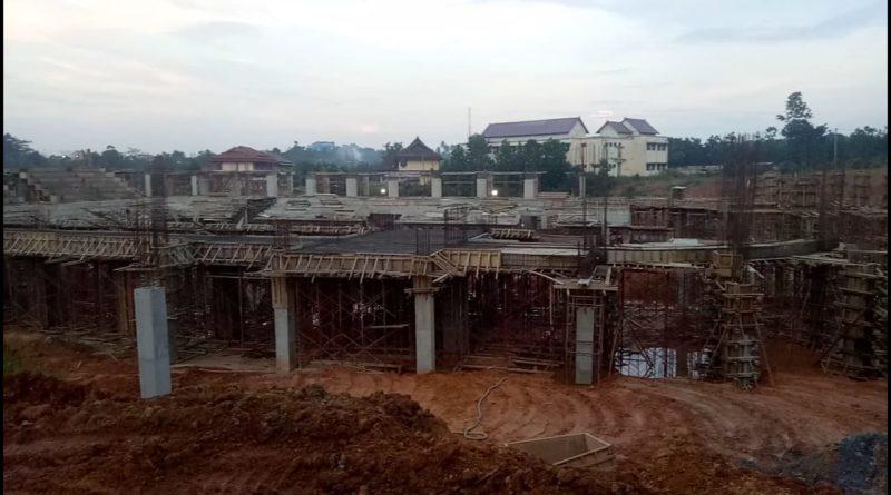 Kondisi Proyek Mangkrak di UIN STS Jambi
