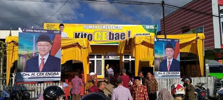 Cek Endra membentuk Rumah Pemenangan di jantung Kota Sungai Penuh