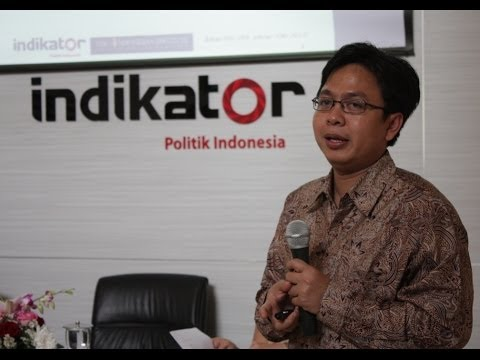 Burhanudin Muhtadi, Direktur Eksekutife Indikator Politik Indonesia