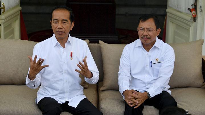 Jokowi dan Menkes Terawan