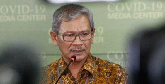 uru bicara informasi wabah COVID-19 dr. Achmad Yurianto saat memberikan keterangan pers terkait penanganan wabah COVID-19 di Kantor Staf Presiden, Komplek Istana Kepresidenan, Jakarta, Kamis 5 Maret 2020.