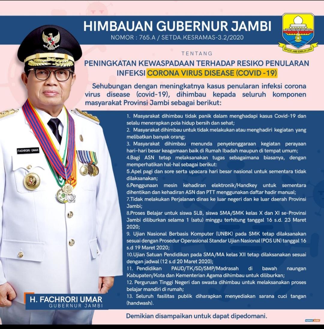 Imbauan Gubernur Jambi