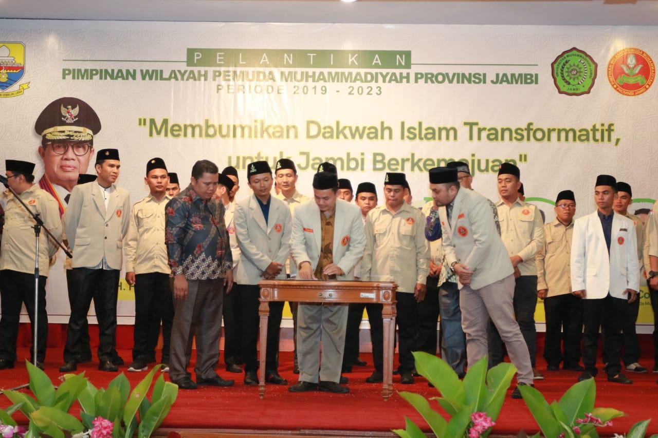 Prosesi pengukuhna pengurus PWPM Provinsi Jambi masa bakti 2019-2023