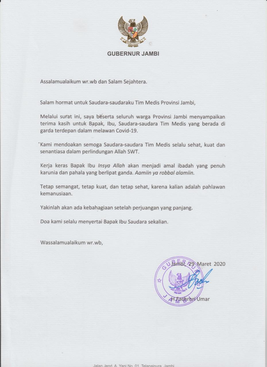 Sepucuk Surat dari Sang Gubernur