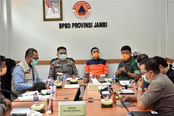 Kapolda dan Danrem turut hadir dalam rapat koordinasi
