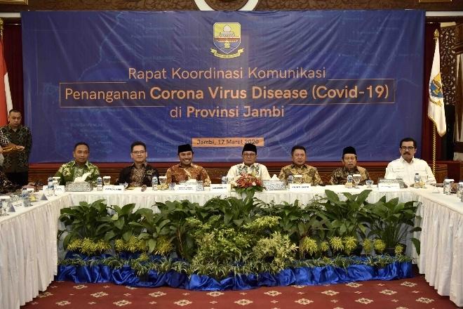 Gelar Rakor Penanganan Corona Virus Disease, Fachrori : Provinsi Jambi Perkuat Sinergitas Hadapi Covid-19