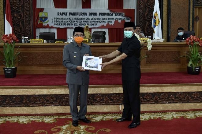 Gubernur Jambi Sampaikan LKPj Tahun Anggaran 2019