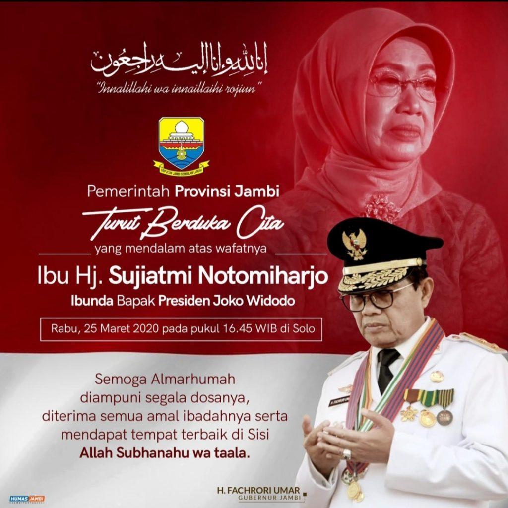 Fachrori Sampaikan Duka yang Mendalam Atas Wafatnya Ibunda Presiden Jokowi
