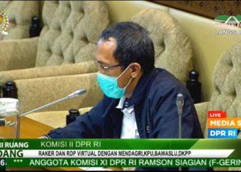Suasana RDP di Komisi II DPR RI hari ini