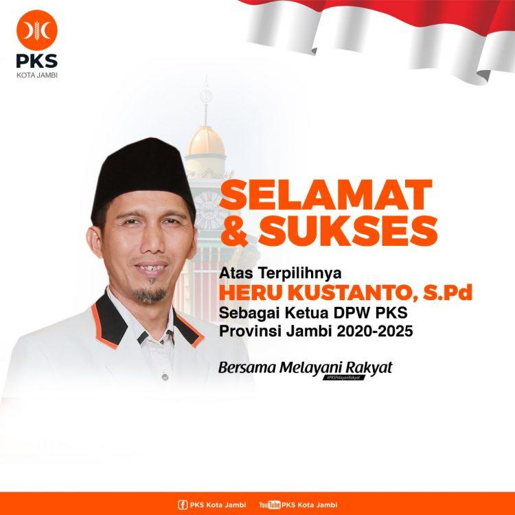 Heru Kustanto, Ketua terpilih DPW PKS Provinsi Jambi
