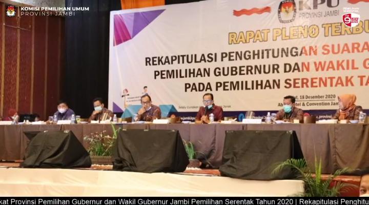 Suasana Pleno Terbuka KPU Provinsi Jambi